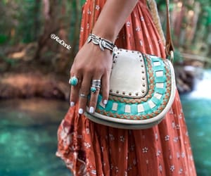bag, bracelet, and rings image