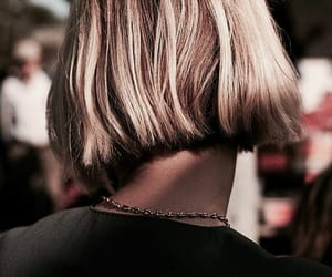 blonde, short, and hair image