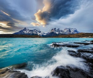 nature, sea, and clouds image