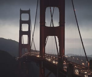 san francisco, bridge, and light image