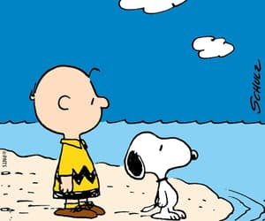 beach and snoopy image