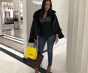 designer, girl, and jeans image