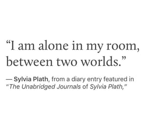 alone, chaos, and sylvia plath image