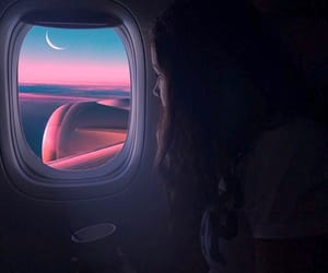 adventure, moon, and plane image