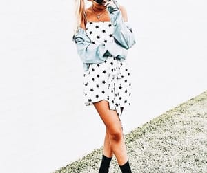 black, blue, and chic image
