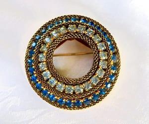 etsy, vintage jewelry, and something blue image