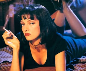 pulp fiction, uma thurman, and mia wallace image