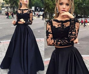 dress, black, and Prom image