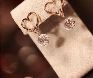 beautiful, brown, and earrings image