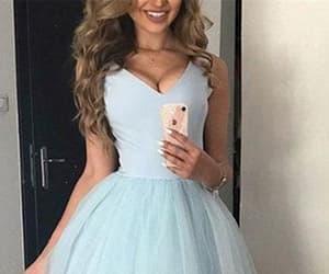 beauty, blue dresses, and dress image