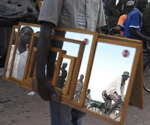 africa, photography, and mirror image