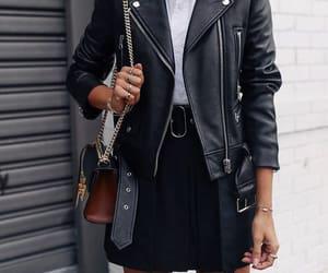 black, fashion, and jacket image