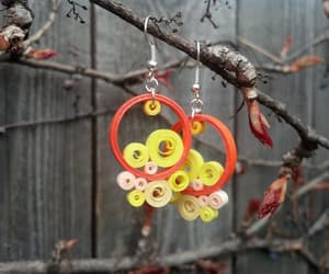 mothers day gift, orange earrings, and yellow earrings image