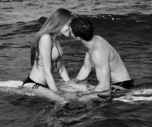 beach, bikini, and kiss image