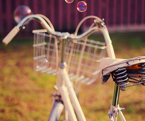 bike, bubbles, and bicycle image