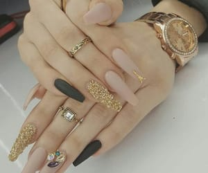 glamour, luxury, and nail art image