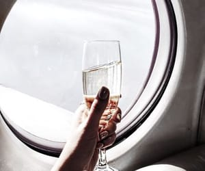 travel, champagne, and luxury image