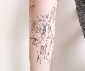 flower, tattoo, and Tattoos image