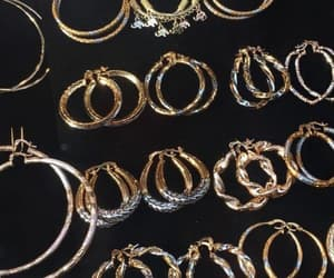 gold, earrings, and accessories image