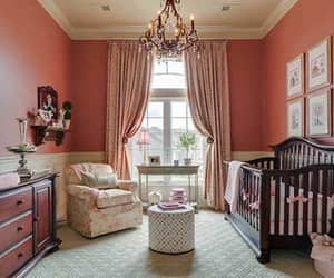 baby, bedroom, and curtain image