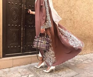 abaya, dress, and fashion image