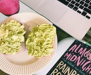 avocado, books, and colors image