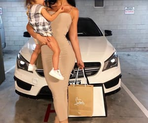 baby, car, and mercedes image