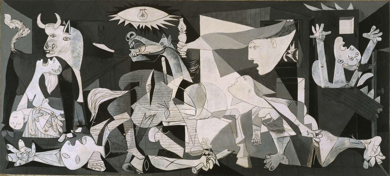 art, Guernica, and picasso image