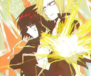 boku no hero, denki kaminari, and kyouka jirou image