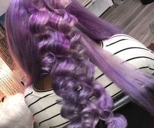 hair, purple, and popping image