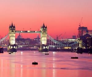 london, city, and bridge image