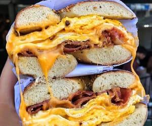 bagel, breakfast, and egg image