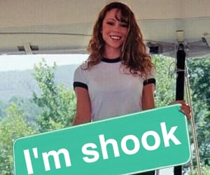 funny, Mariah Carey, and shook image