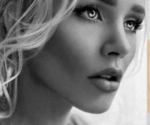 beautiful, black-and-white, and blond image