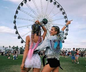 coachella, indie, and festival image