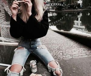 fashion, food, and girl image