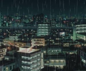 rain, gif, and anime image