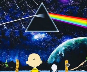 snoopy, art, and Pink Floyd image