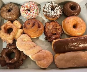 cuisine, delicious, and doughnut image