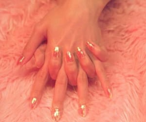 aesthetic, peachy, and hands image