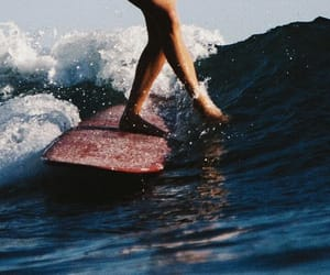 summer, waves, and surf image