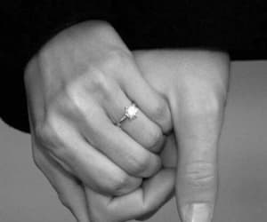 hand, ring, and love image