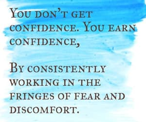 confidence, fear, and quote image