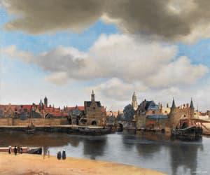 johannes vermeer and view of delft image