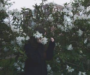 cute girl, flower, and flower girl image
