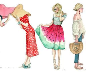 fashion, fashion illustration, and girl image