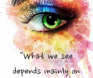 colorful, eye, and quote image
