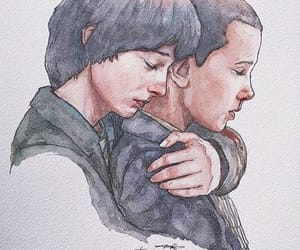 draw, eleven, and stranger things image