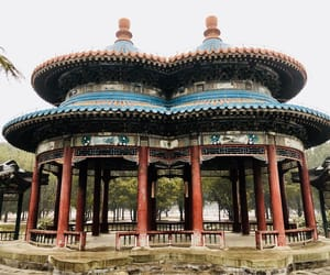 china, landscapes, and pavilion image