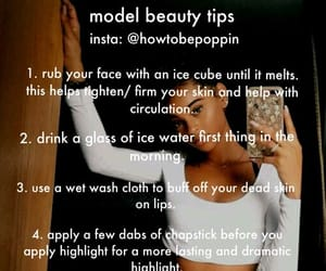 skin care, tips, and glo up image